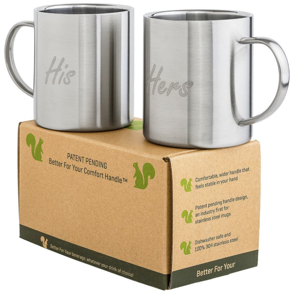 His and Hers Set of 2 Better For Your Stainless Steel Mugs
